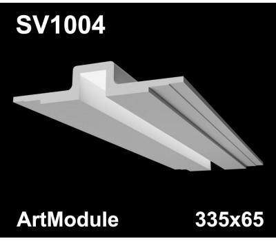 SV1004 - встраиваемый светильник для светодиодной подсветки из гипса ArtModule 335х65мм