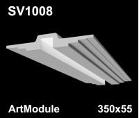 SV1008 - встраиваемый светильник для светодиодной подсветки из гипса ArtModule 350х55мм