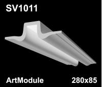SV1011- встраиваемый светильник для светодиодной подсветки из гипса ArtModule 280x85мм