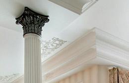 Декоративные потолки с лепниной