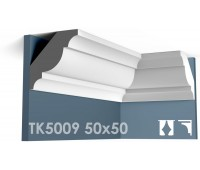 ТК5009 Карниз гладкий из гипса АртМодуль h50х50