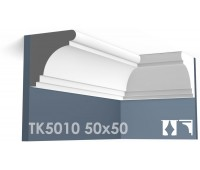 ТК5010 Карниз гладкий из гипса АртМодуль h50х50