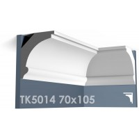 ТК5014 Карниз гладкий из гипса АртМодуль h70х105