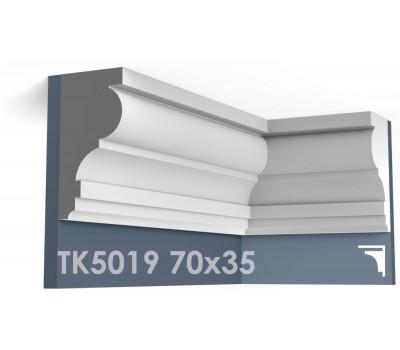 ТК5019 Карниз гладкий из гипса АртМодуль h70х35
