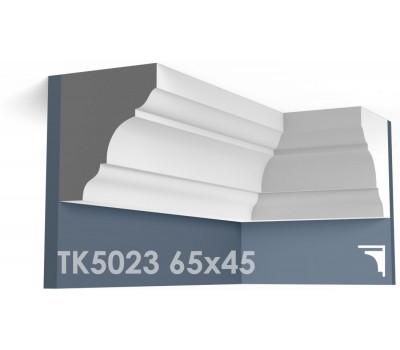 ТК5023 Карниз гладкий из гипса АртМодуль hh65х45