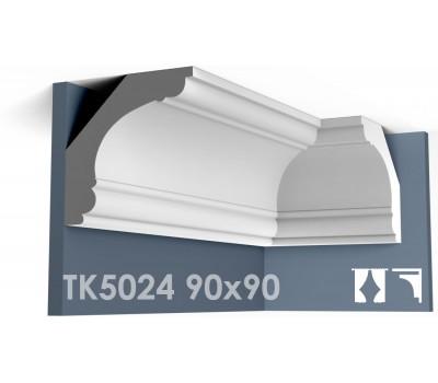 ТК5024 Карниз гладкий из гипса АртМодуль hh90х90