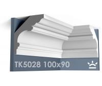 ТК5028 Карниз гладкий из гипса АртМодуль hh100х90