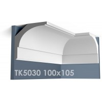 ТК5030 Карниз гладкий из гипса АртМодуль hh100х105