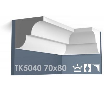 ТК5040 Карниз гладкий из гипса АртМодуль hh70х80