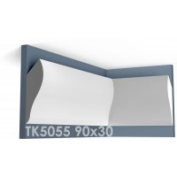 ТК5055 Карниз гладкий из гипса АртМодуль hh90х30
