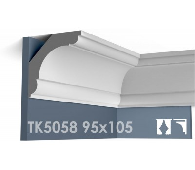 ТК5058 Карниз гладкий из гипса АртМодуль hh95х105