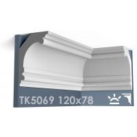 ТК5069 Карниз гладкий из гипса АртМодуль hh120x78