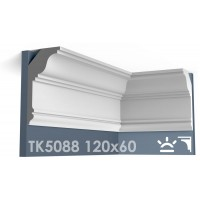 ТК5088 Карниз гладкий из гипса АртМодуль hh120x60