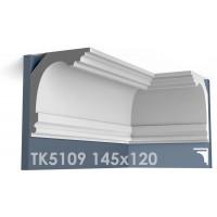 ТК5109 Карниз гладкий из гипса АртМодуль hh145x120