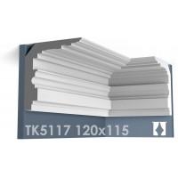 ТК5117 Карниз гладкий из гипса АртМодуль hh120x115
