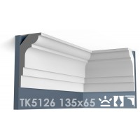 ТК5126 Карниз гладкий из гипса АртМодуль hh135x65