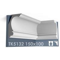 ТК5132 Карниз гладкий из гипса АртМодуль hh150x100