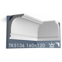 ТК5136 Карниз гладкий из гипса АртМодуль hh160x120