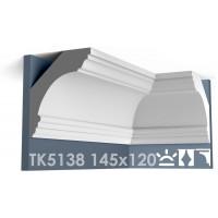 ТК5138 Карниз гладкий из гипса АртМодуль hh145x120