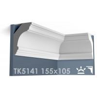 ТК5141 Карниз гладкий из гипса АртМодуль hh155x105