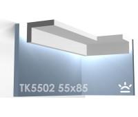 ТК5502 Карниз из гипса для подсветки АртМодуль h55x85