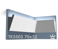 ТК5503 Карниз из гипса для подсветки АртМодуль h70x32