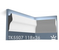 ТК5507 Карниз из гипса для подсветки АртМодуль h118x36