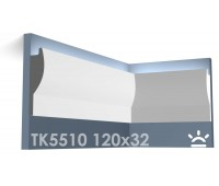 ТК5510 Карниз из гипса для подсветки АртМодуль h120x32