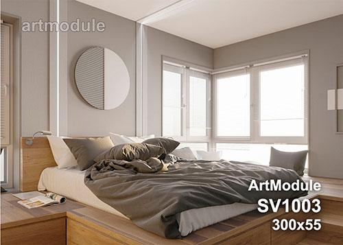 SV1003 - встраиваемый светильник для светодиодной подсветки из гипса ArtModule