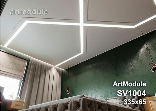 SV1004 - встраиваемый светильник для светодиодной подсветки из гипса ArtModule