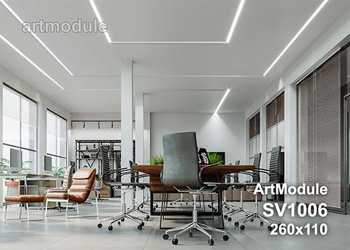 SV1006 - встраиваемый светильник для светодиодной подсветки из гипса ArtModule
