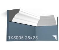 ТК5005 Карниз гладкий из гипса АртМодуль h25х25