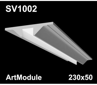 SV1002 - встраиваемый светильник для светодиодной подсветки из гипса ArtModule 230х50мм