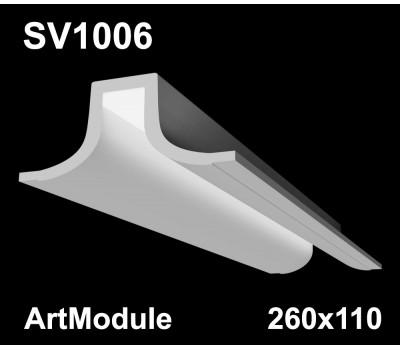 SV1006 - встраиваемый светильник для светодиодной подсветки из гипса ArtModule 260х110мм