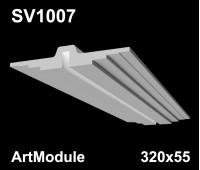 SV1007 - встраиваемый светильник для светодиодной подсветки из гипса ArtModule 320х55мм