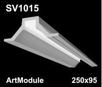 SV1015 - встраиваемый светильник для светодиодной подсветки из гипса ArtModule 250x95мм