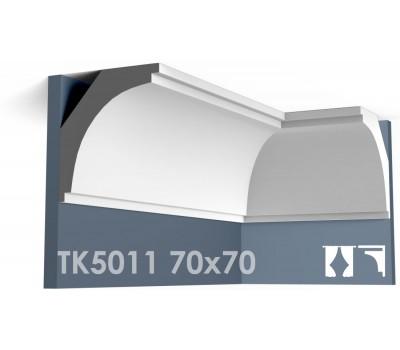 ТК5011 Карниз гладкий из гипса АртМодуль h70х70