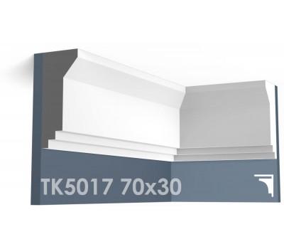 ТК5017 Карниз гладкий из гипса АртМодуль h70х30