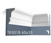 ТК5018 Карниз гладкий из гипса АртМодуль h60х35