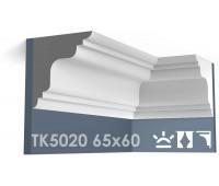 ТК5020 Карниз гладкий из гипса АртМодуль h65х60