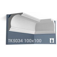 ТК5034 Карниз гладкий из гипса АртМодуль hh100х100