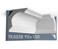 ТК5038 Карниз гладкий из гипса АртМодуль hh95х100