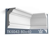 ТК5043 Карниз гладкий из гипса АртМодуль hh80х40