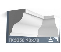 ТК5050 Карниз гладкий из гипса АртМодуль hh90х70