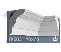 ТК5051 Карниз гладкий из гипса АртМодуль hh90х70