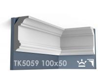 ТК5059 Карниз гладкий из гипса АртМодуль hh100х50