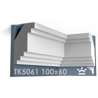 ТК5061 Карниз гладкий из гипса АртМодуль hh100х60