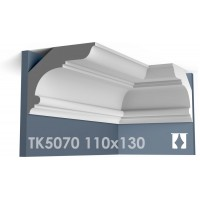 ТК5070 Карниз гладкий из гипса АртМодуль hh110x130