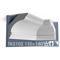 ТК5102 Карниз гладкий из гипса АртМодуль hh150x140