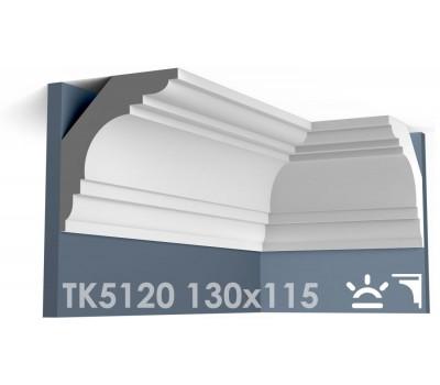 ТК5120 Карниз гладкий из гипса АртМодуль hh130x115